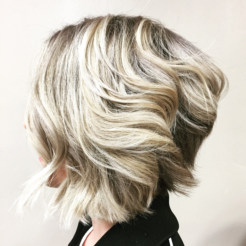 Blonde Bob with a Stacked Back