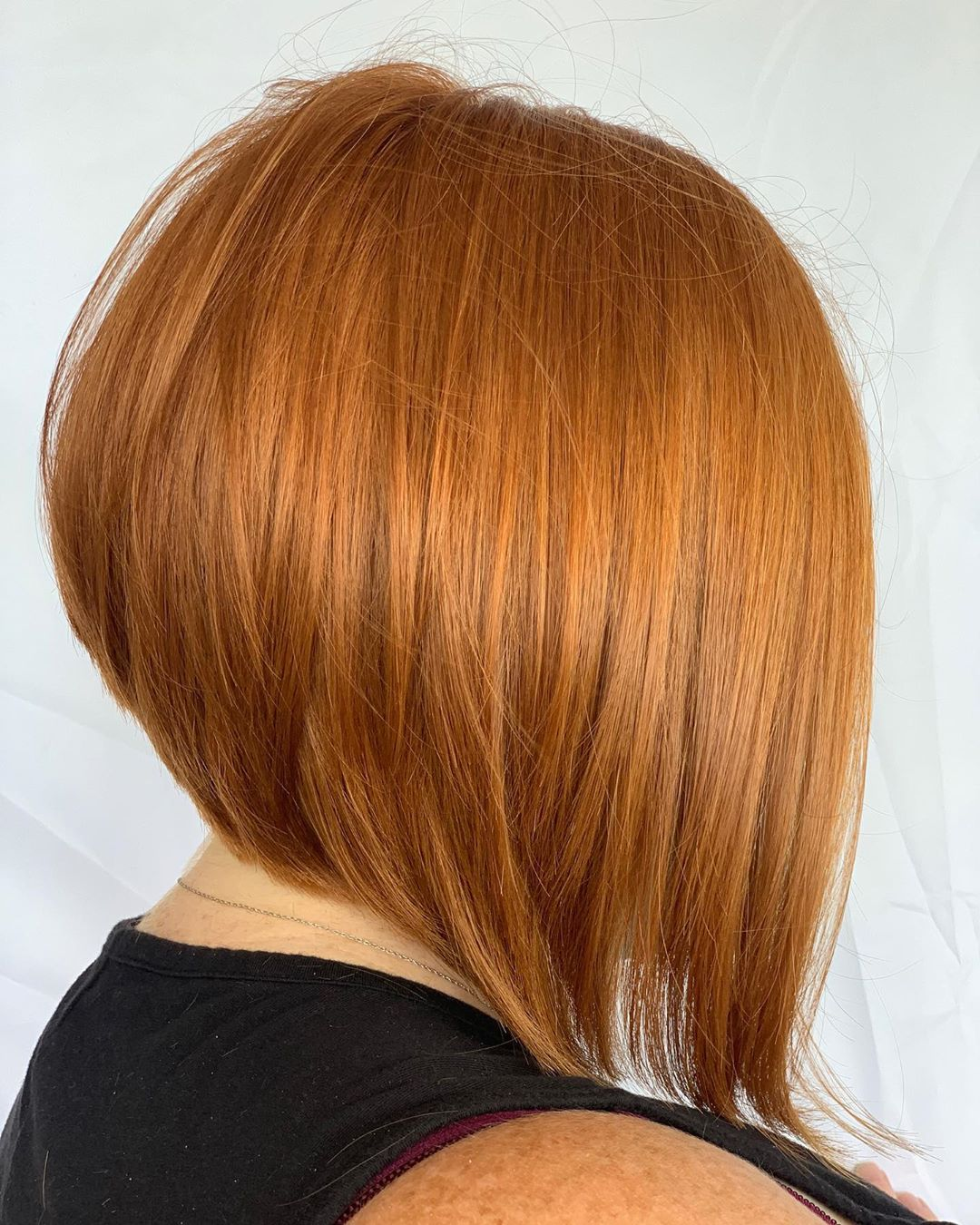 Long Inverted Bob for Straight Hair