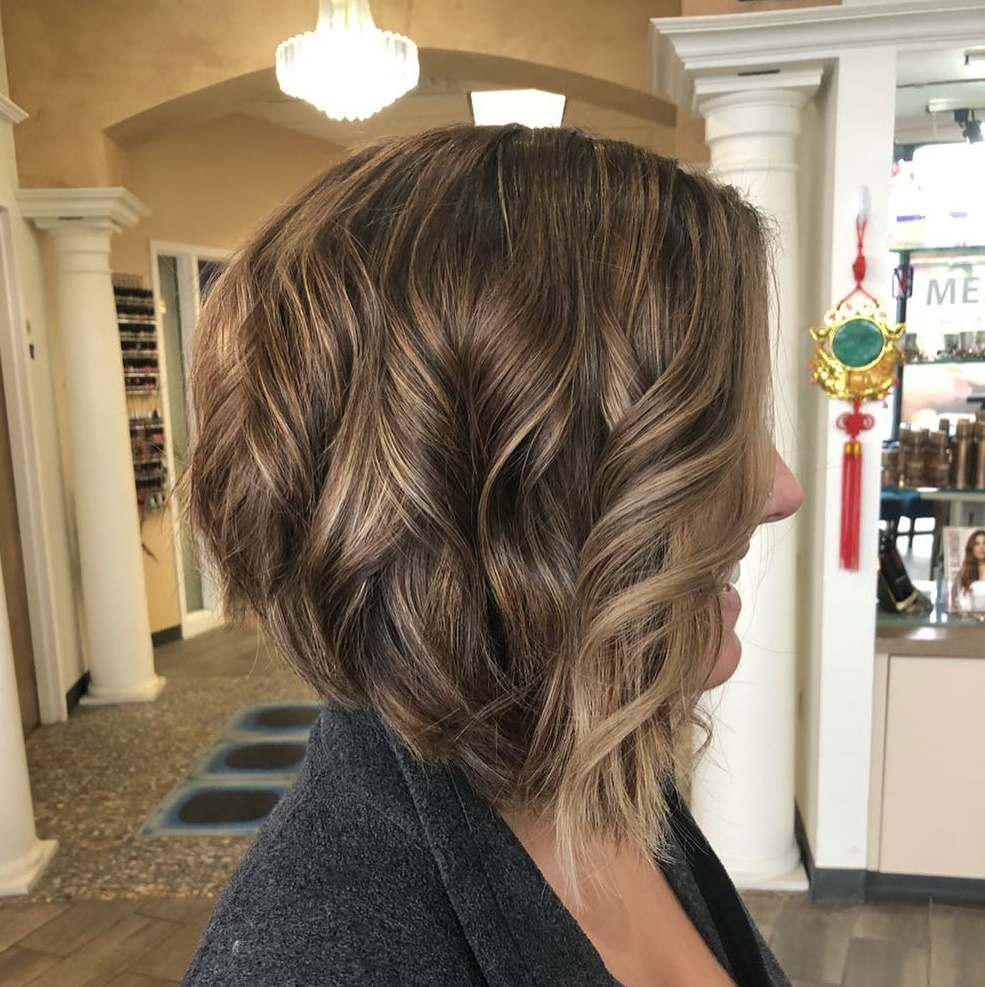 Inverted Brown Bob with Subtle Balayage