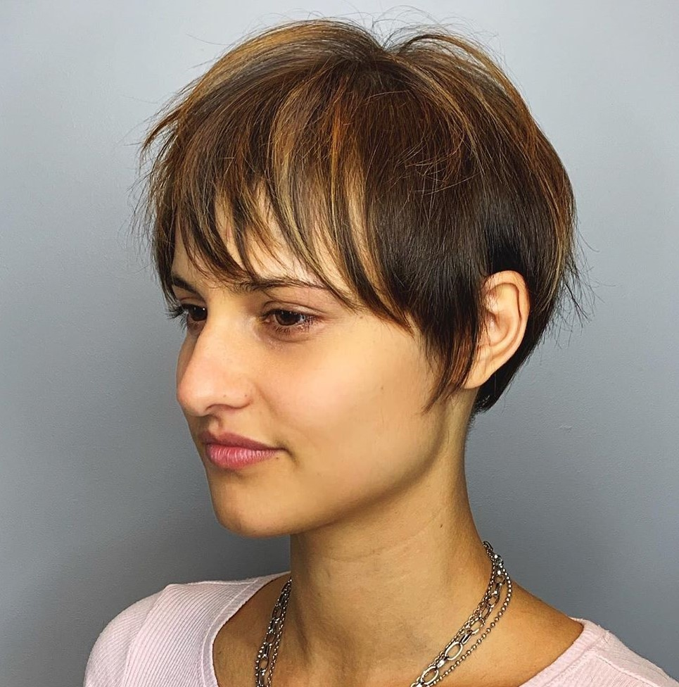 Soft Wispy Pixie with Bangs