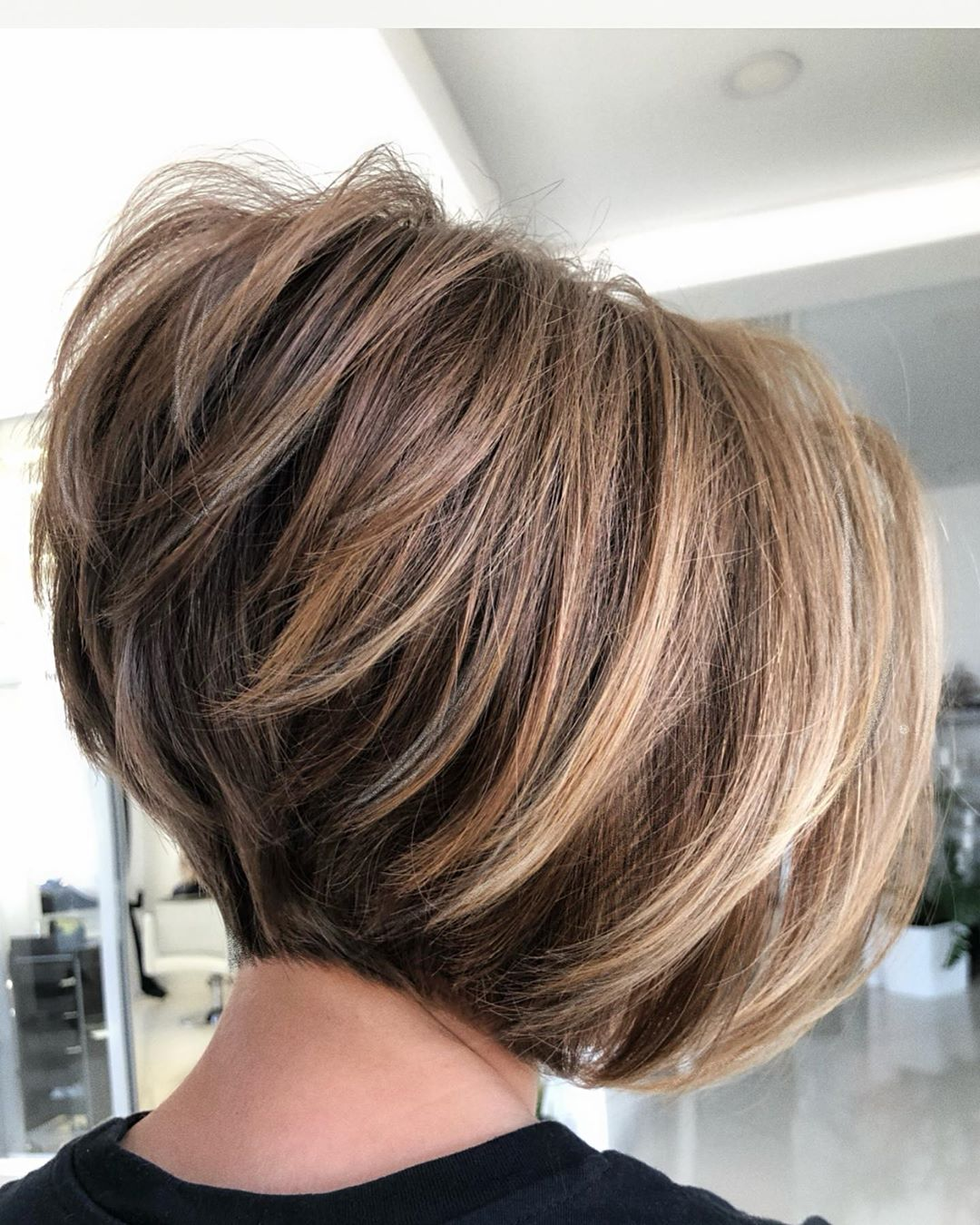 Short Inverted Bob for Thick Hair