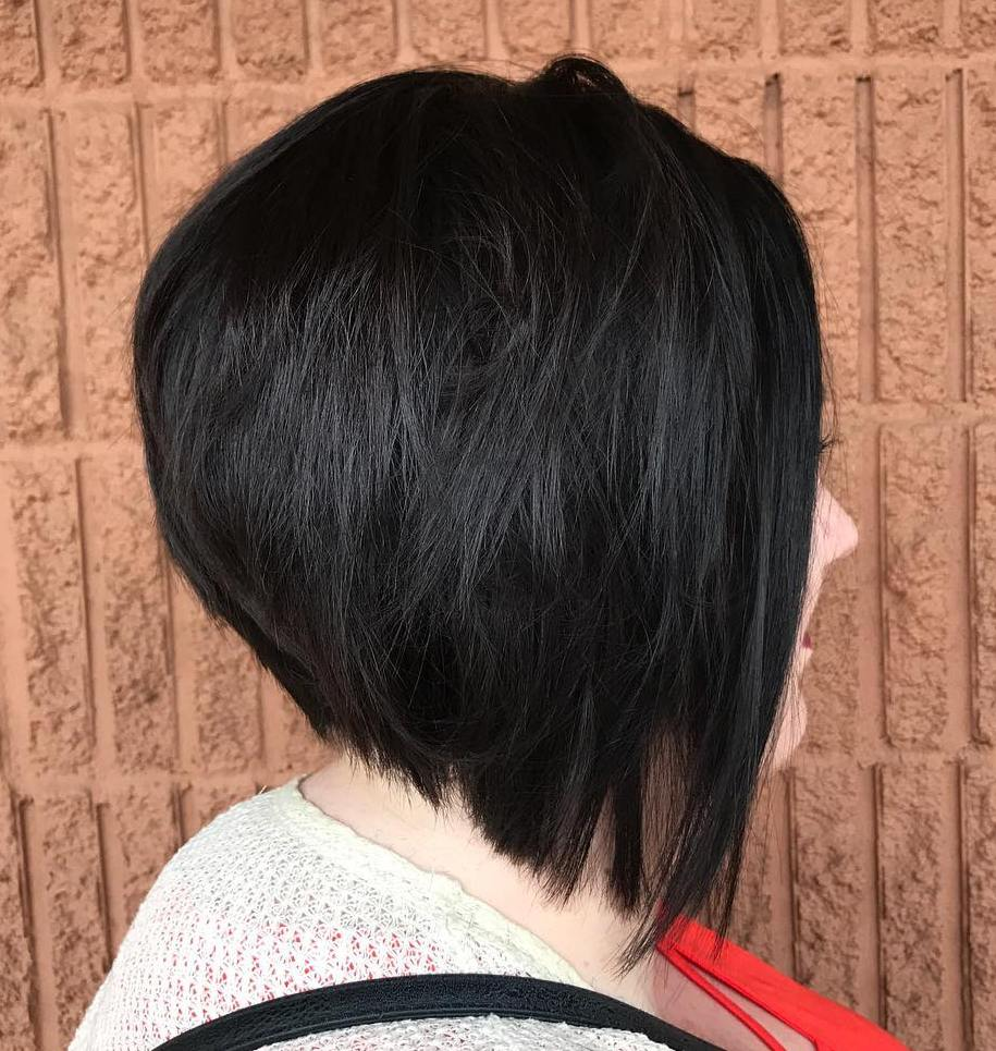 Straight Stacked Black Bob