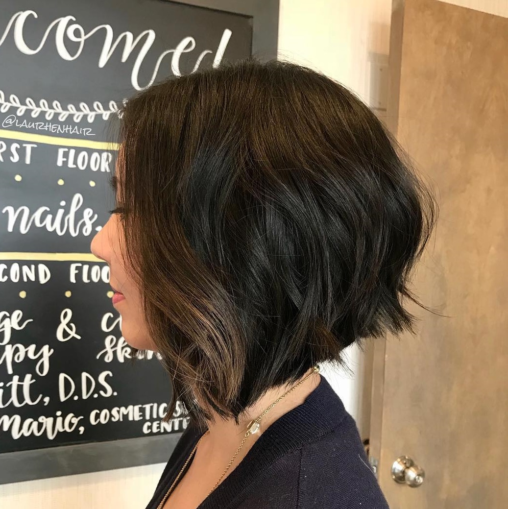 Dark Chocolate Bob with Subtle Highlights