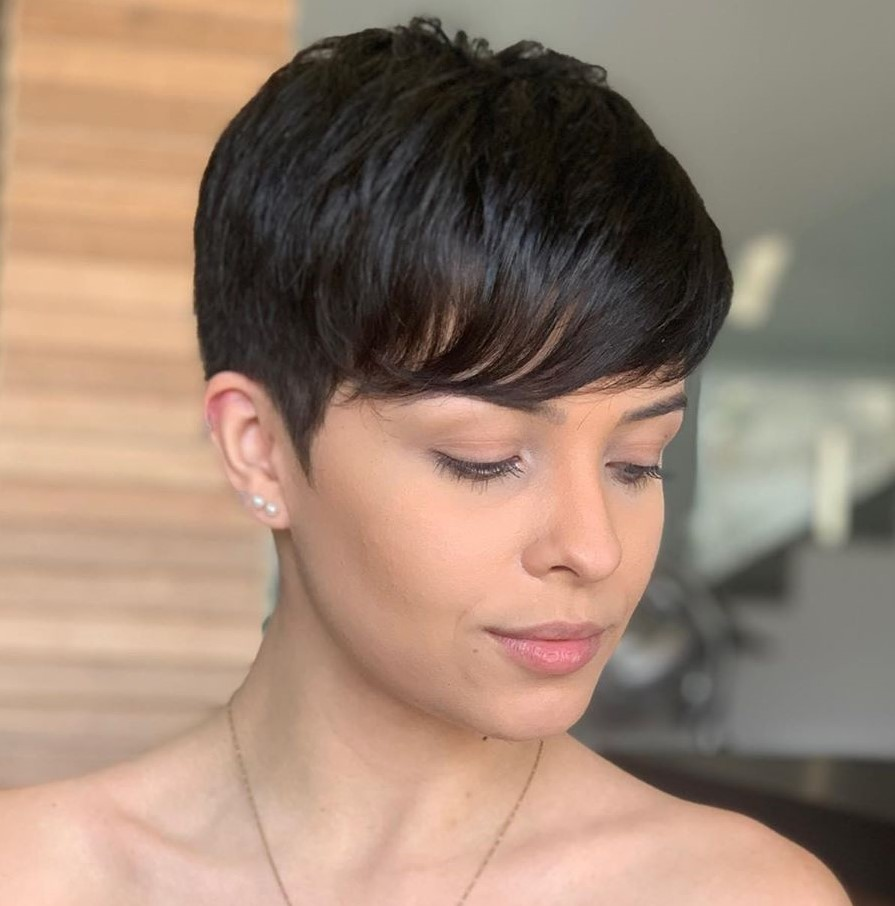 Cute Classic Pixie with Bangs