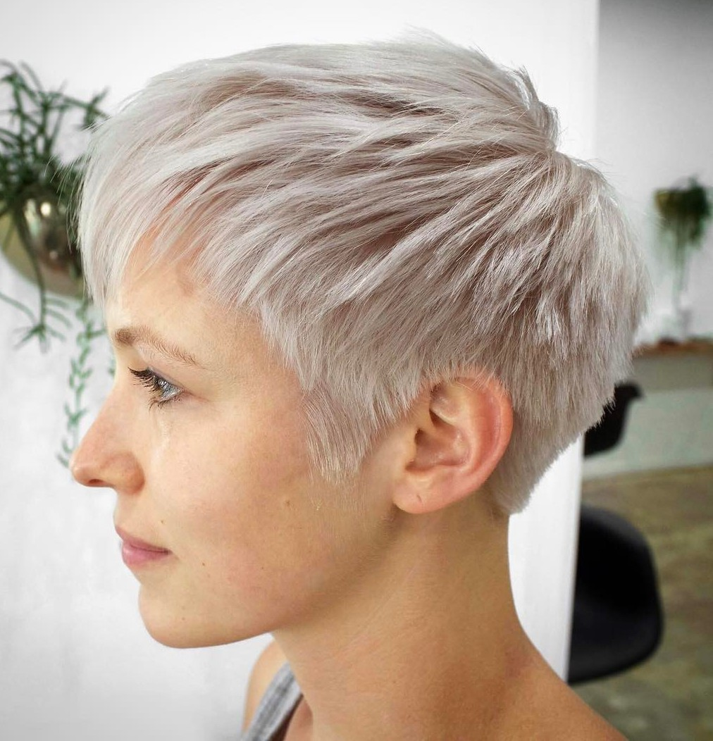 Icy Blonde Short Choppy Pixie