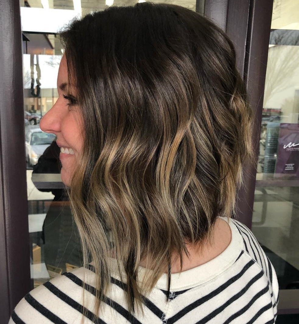 Long Bob with Waves and Highlights