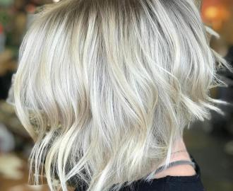 Choppy Silver Blonde Bob Cut