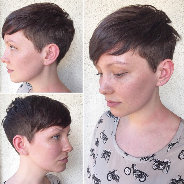 Short Disconnected Pixie with Undercut