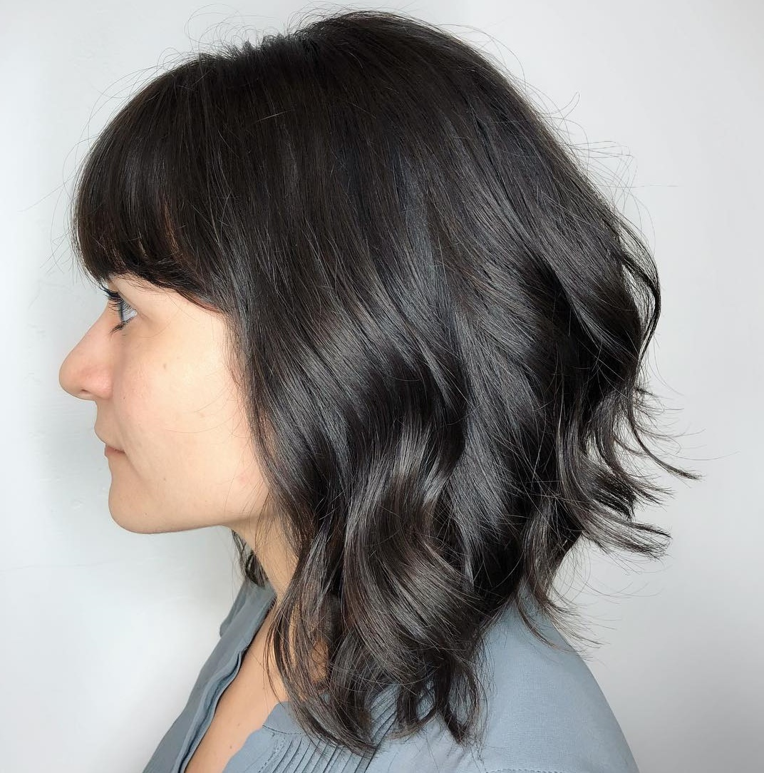 Inverted Choppy Bob with Short Bangs
