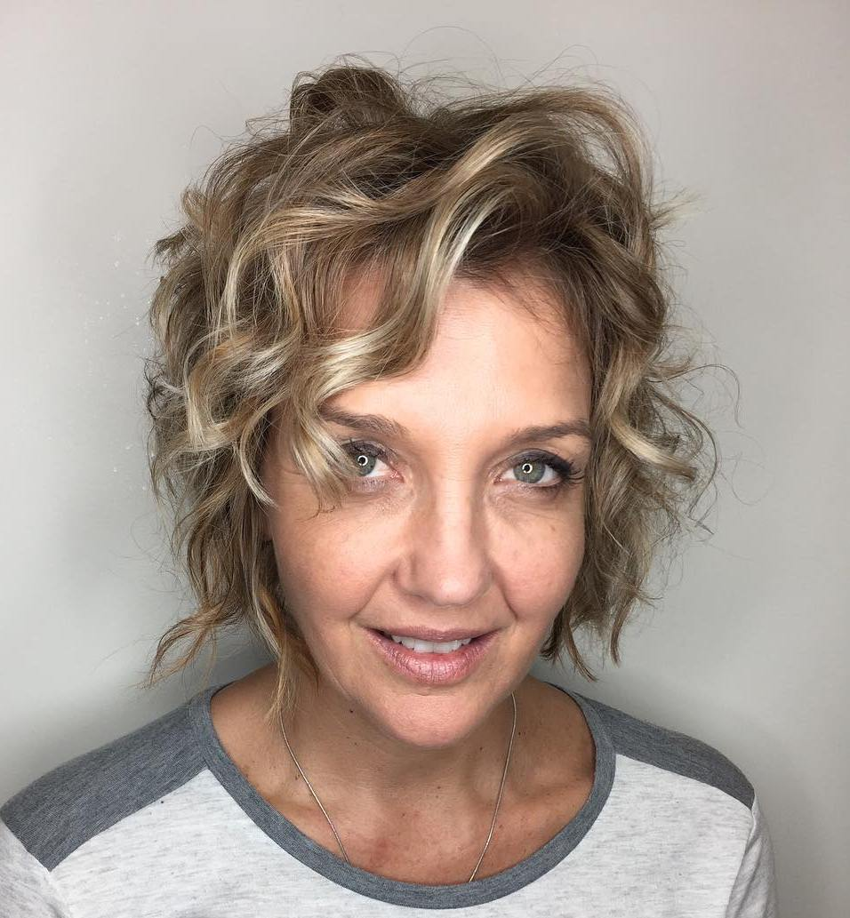 Short layered Blonde Hairstyle with Curls