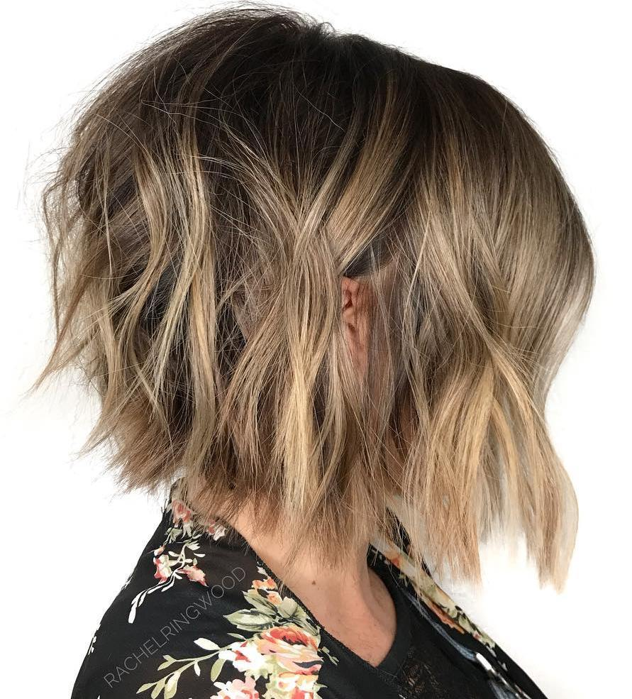 Trendy Structured Messy Bob