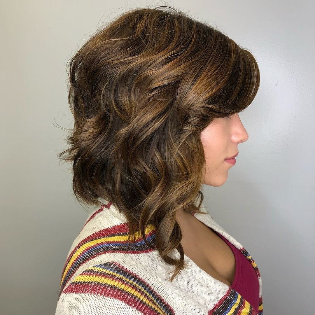 Long Inverted Bob with Curls
