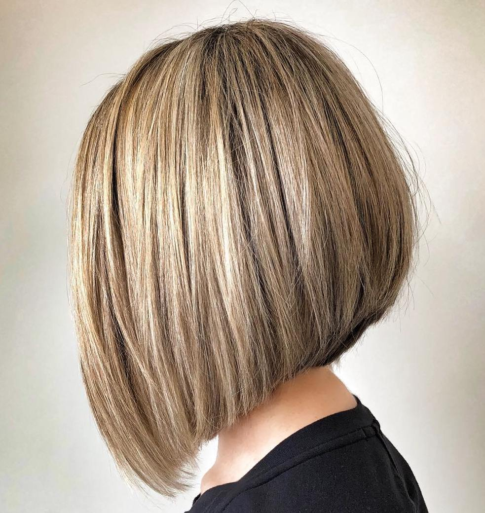 Metallic Blonde A-Line Bob