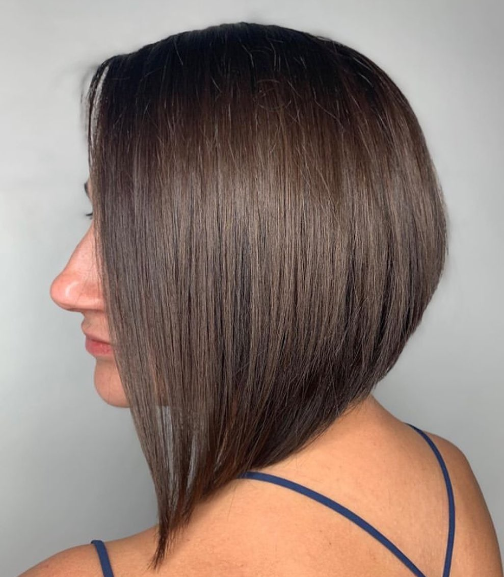 Glossy Medium-Length Inverted Bob