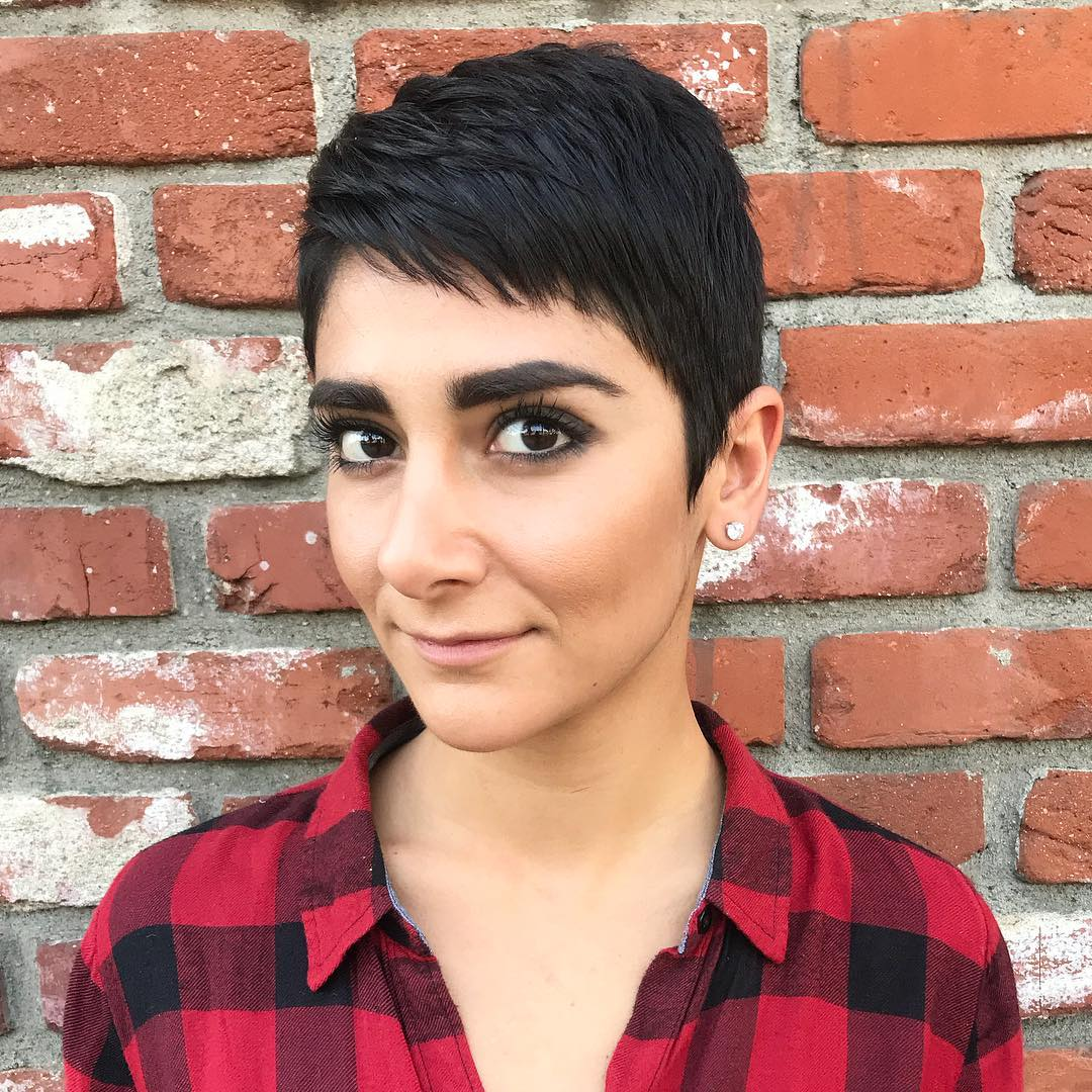 Short Feathered Pixie for Fine Hair