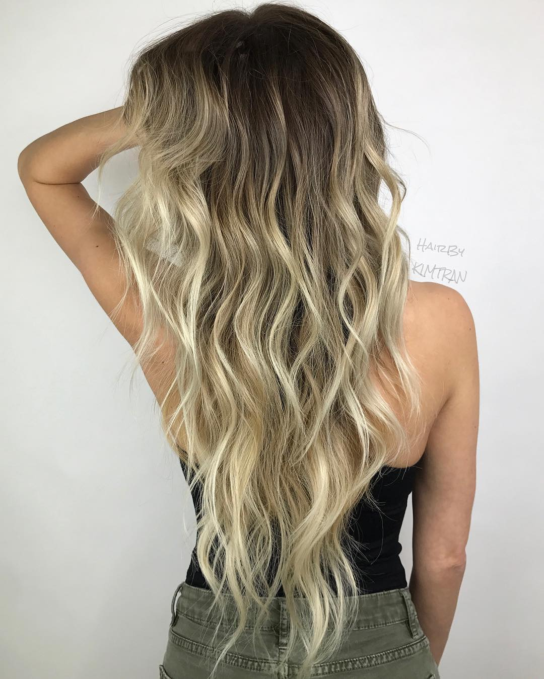 Long Length Layered Wavy Hairstyle