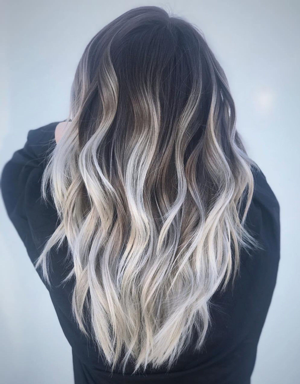 Silver Highlights for Dark Hair