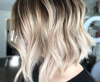 Inverted Choppy Wavy Bob
