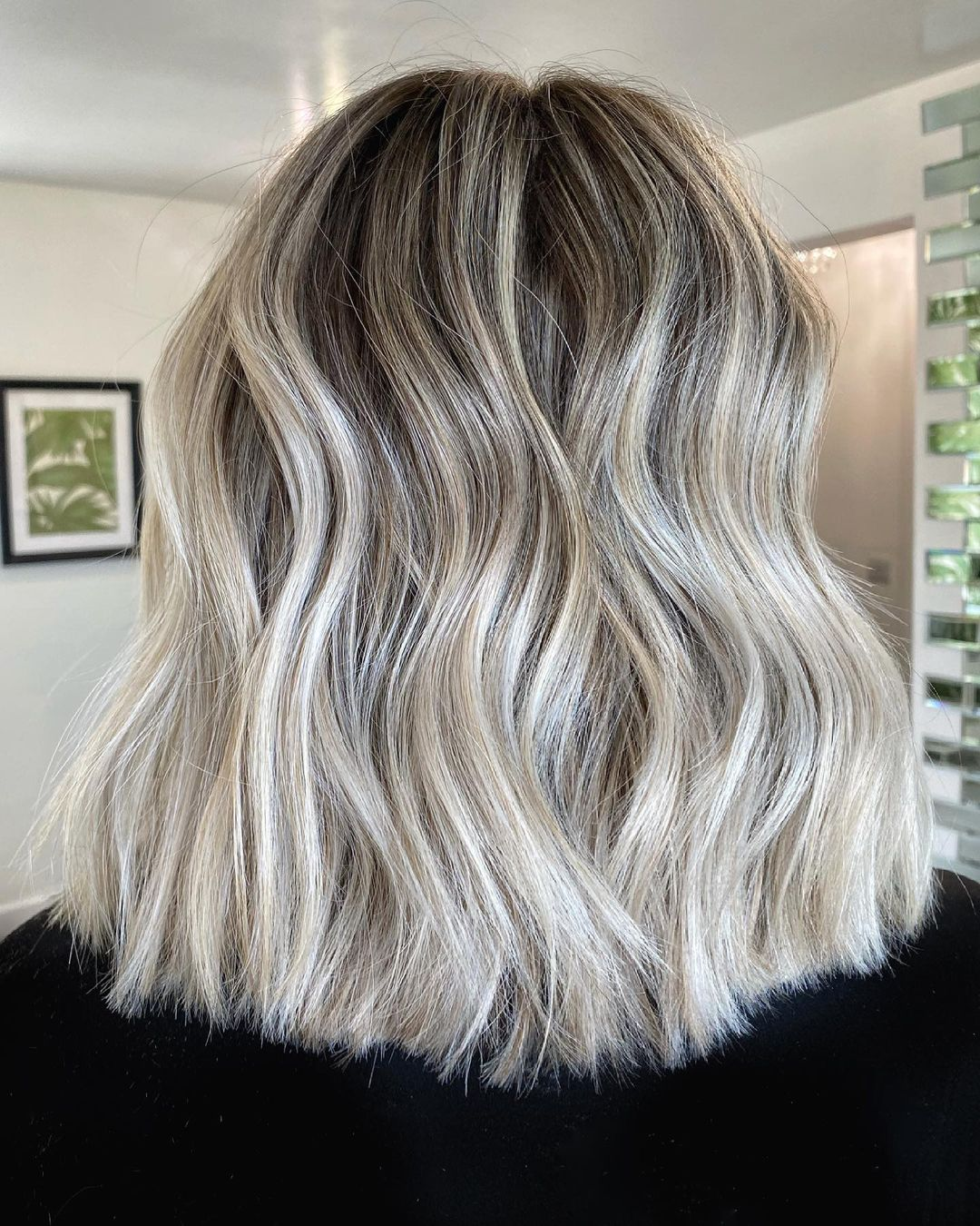 Low-Maintenance Silver Blonde Hair