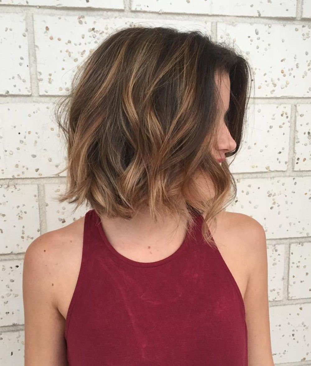 Wavy Bob with Auburn Highlights