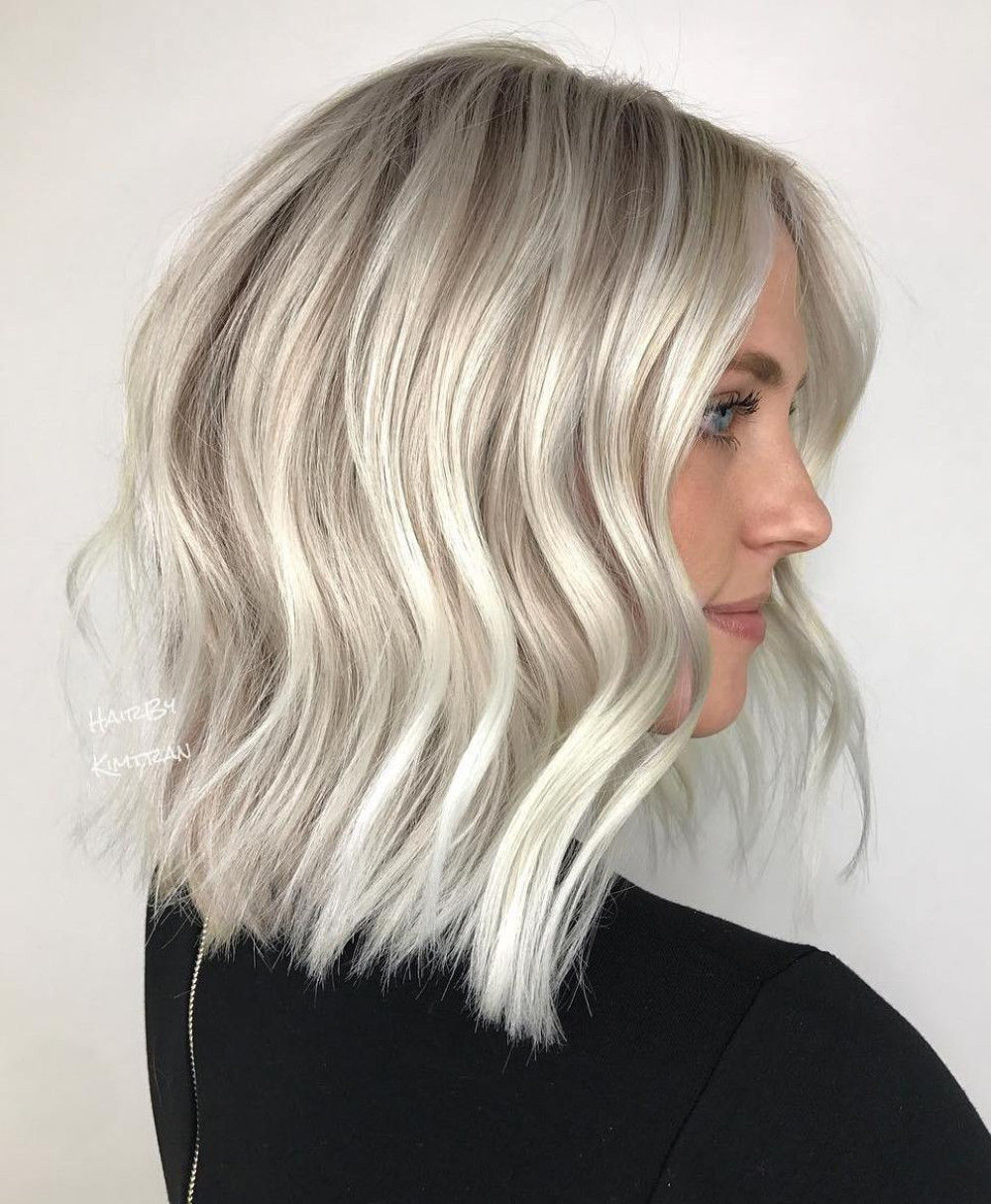 Silver Blonde Choppy Wavy Bob
