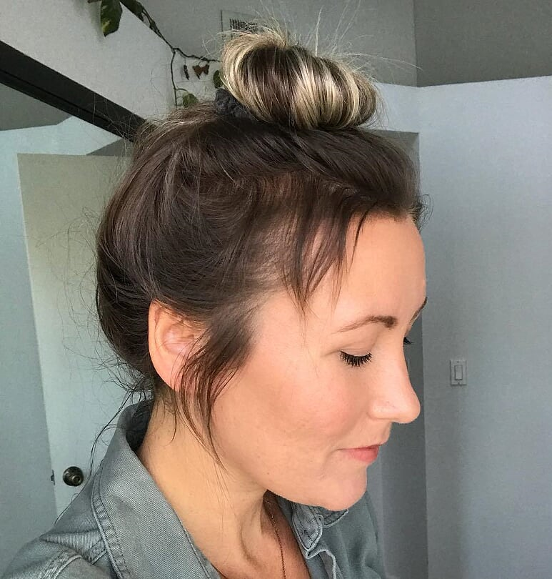 Bun Hairstyle for Scanty hair