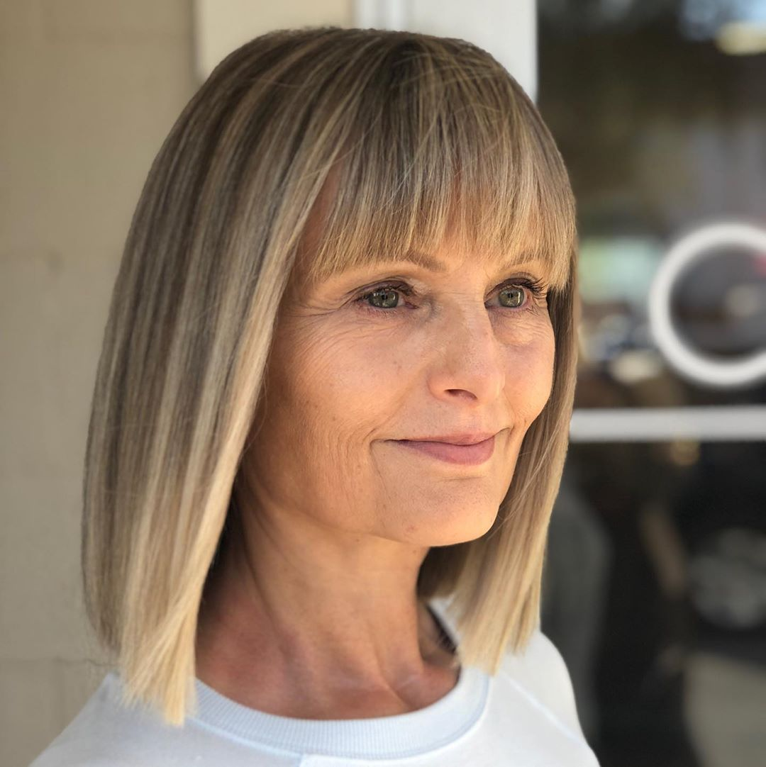 Short Layered Bob Haircuts For Older Women 49