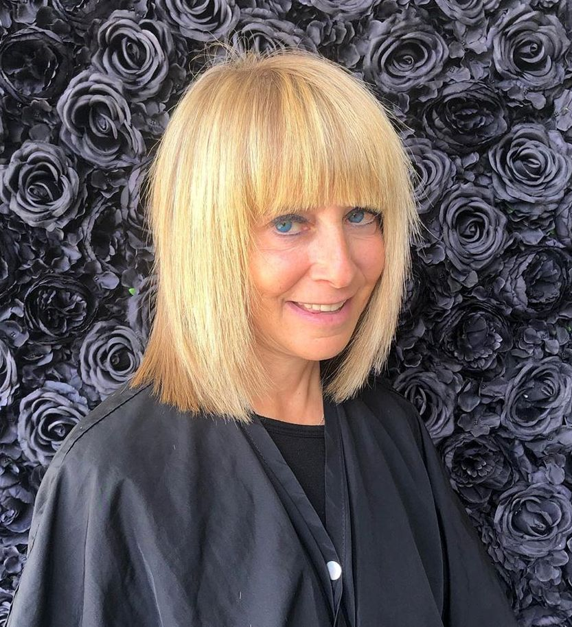 Shoulder Length Bob for Women over 50 with Thin Hair