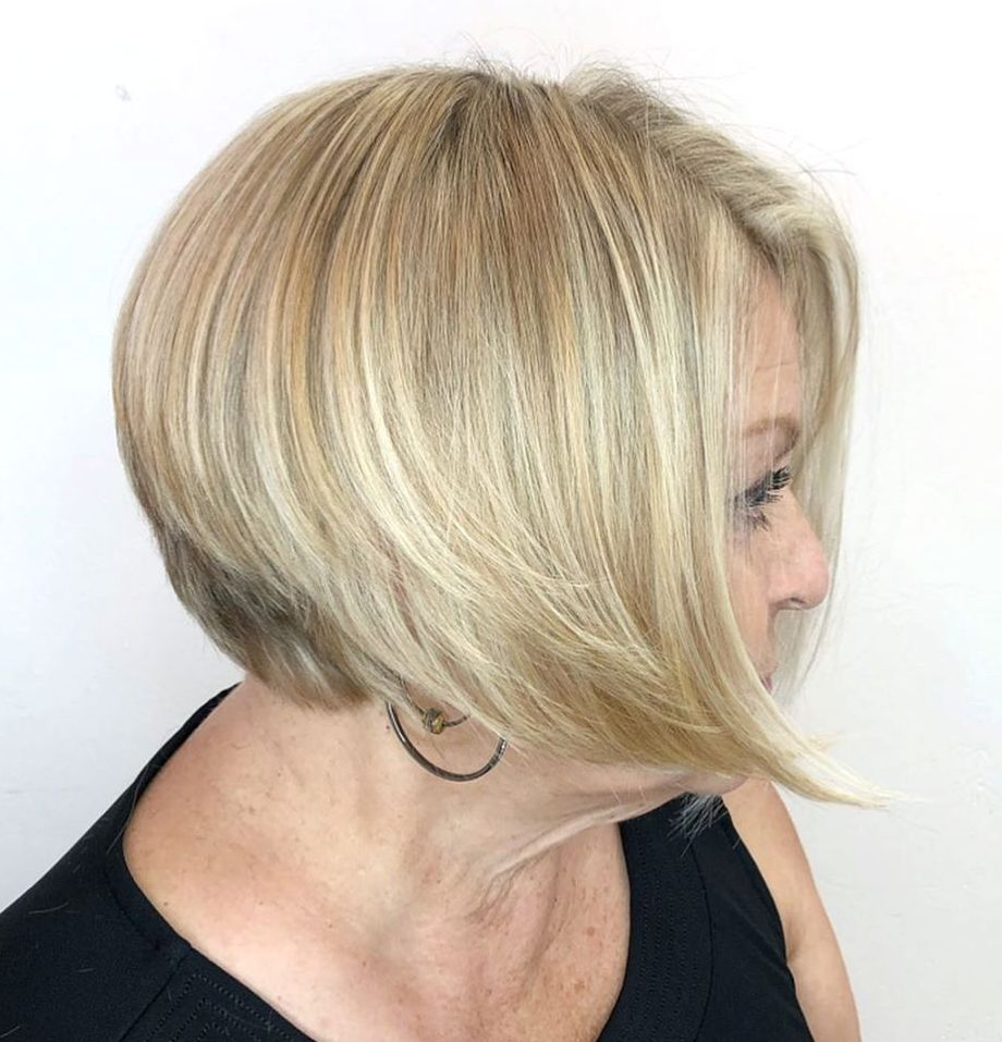 Blonde Bob for a 50 Year Old Woman