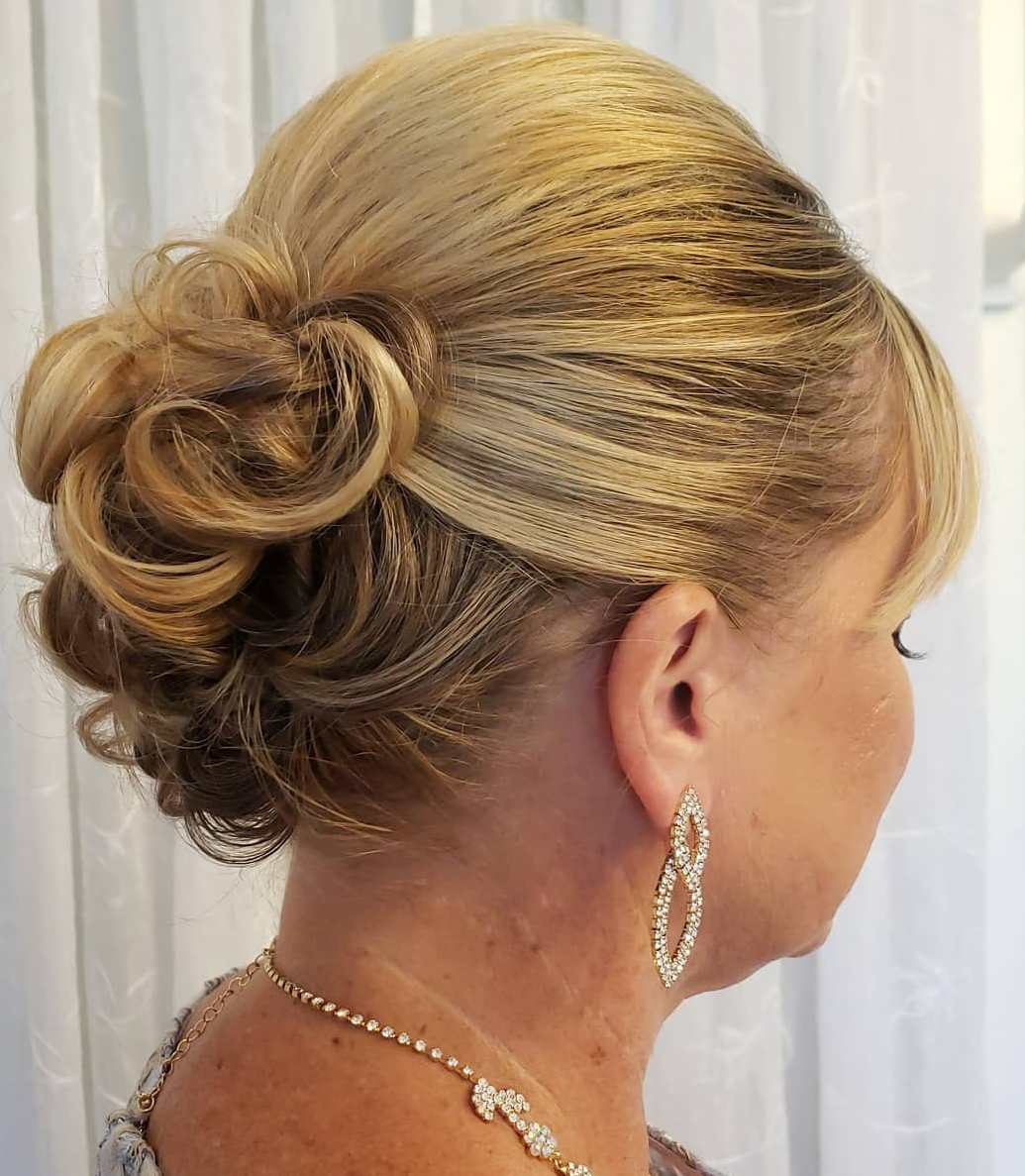 Curly Updo for Medium Length Hair