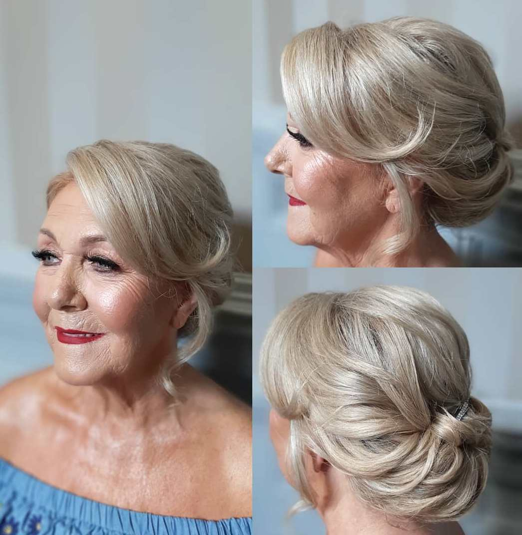 Rolled Chignon Updo Over 50