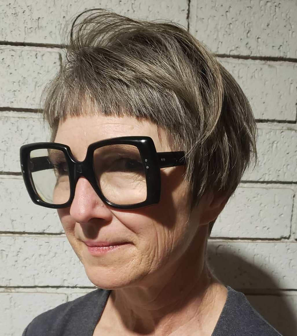 Short Cut for Women Over 60 with Glasses