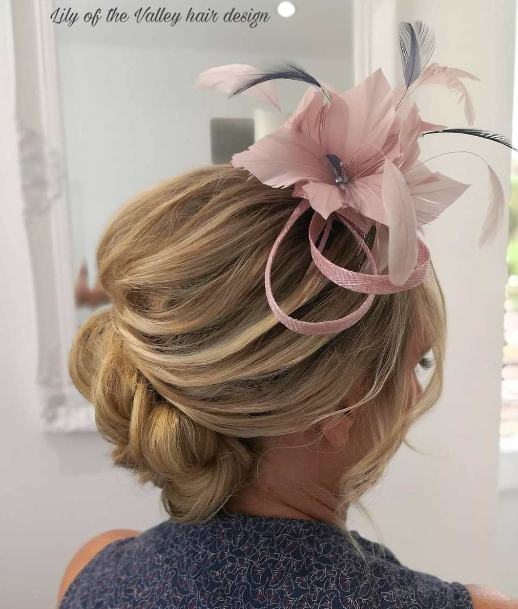 Mom of the Bride Updo with Fascinator