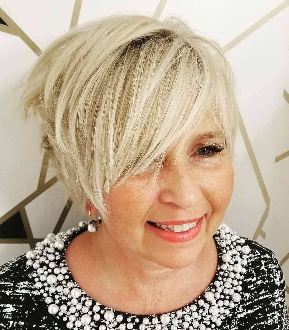 Platinum Hair Color for Older Ladies