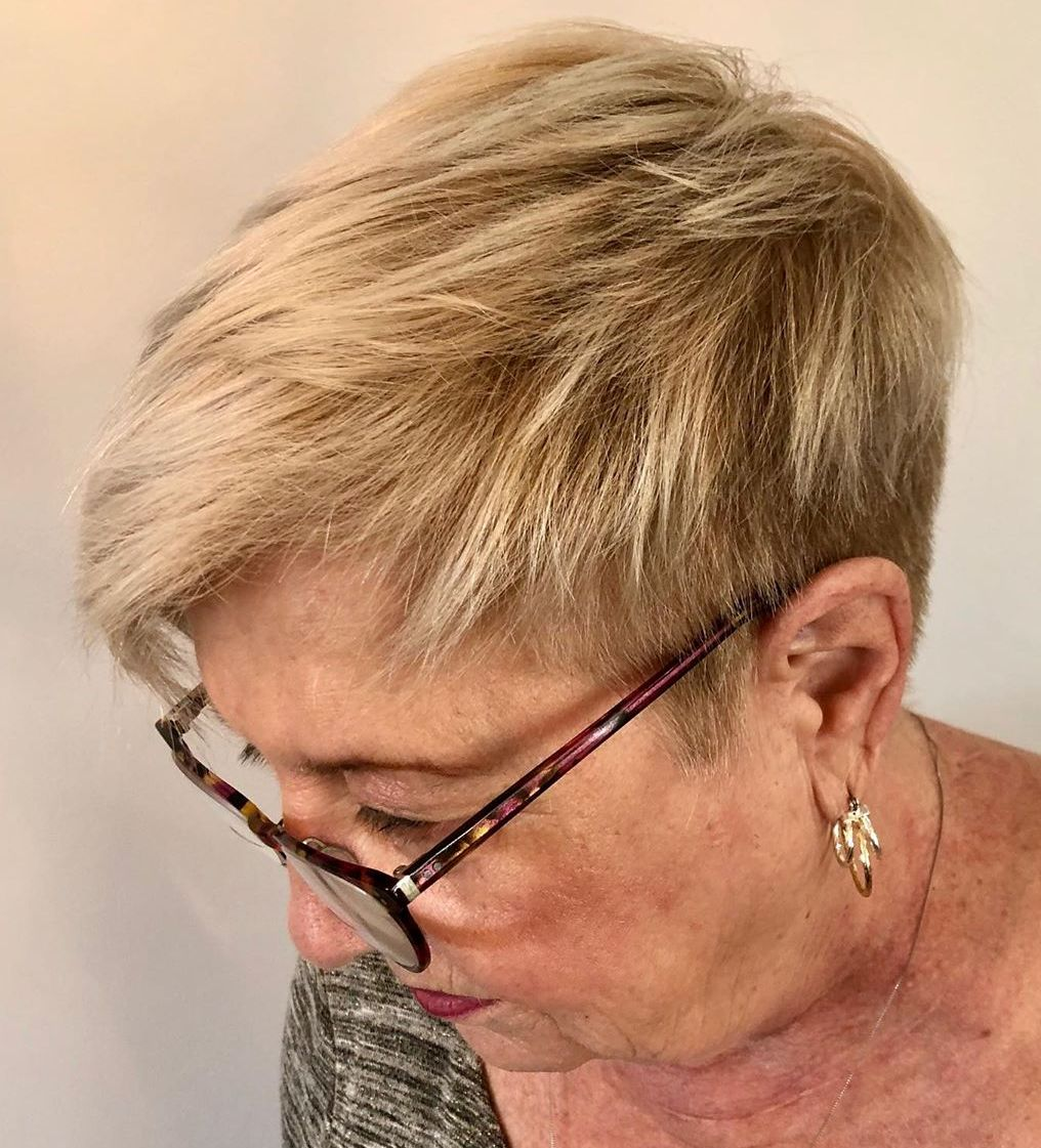Low-Maintenance Short Haircut Over 60