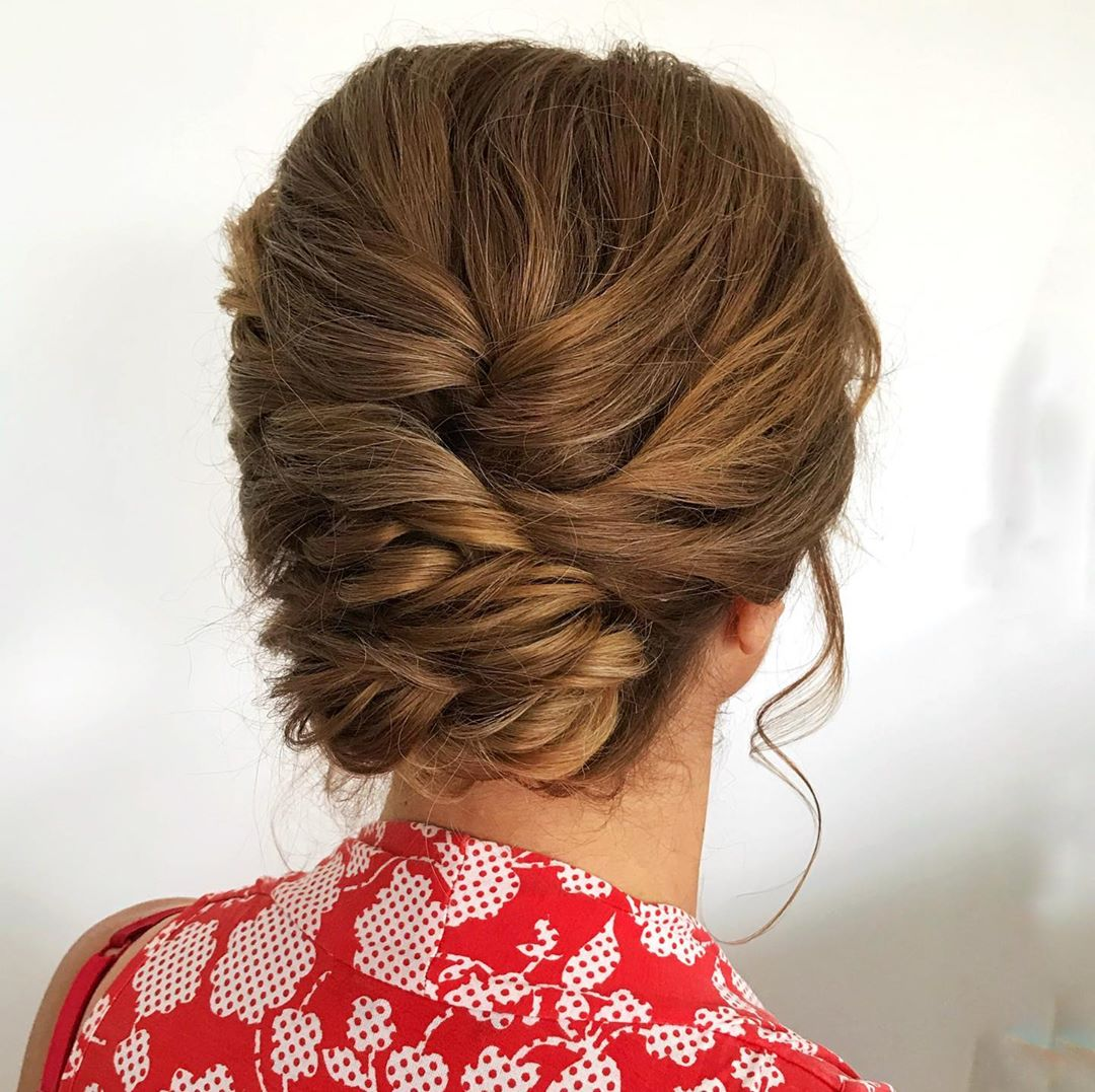 Mother of the Bride Updo for Long Hair