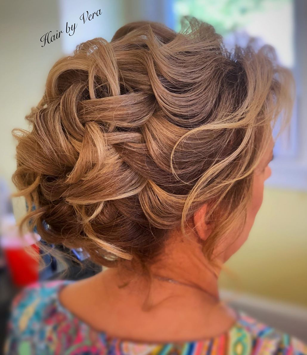 Cute Braided Updo for a Young Mother of the Bride