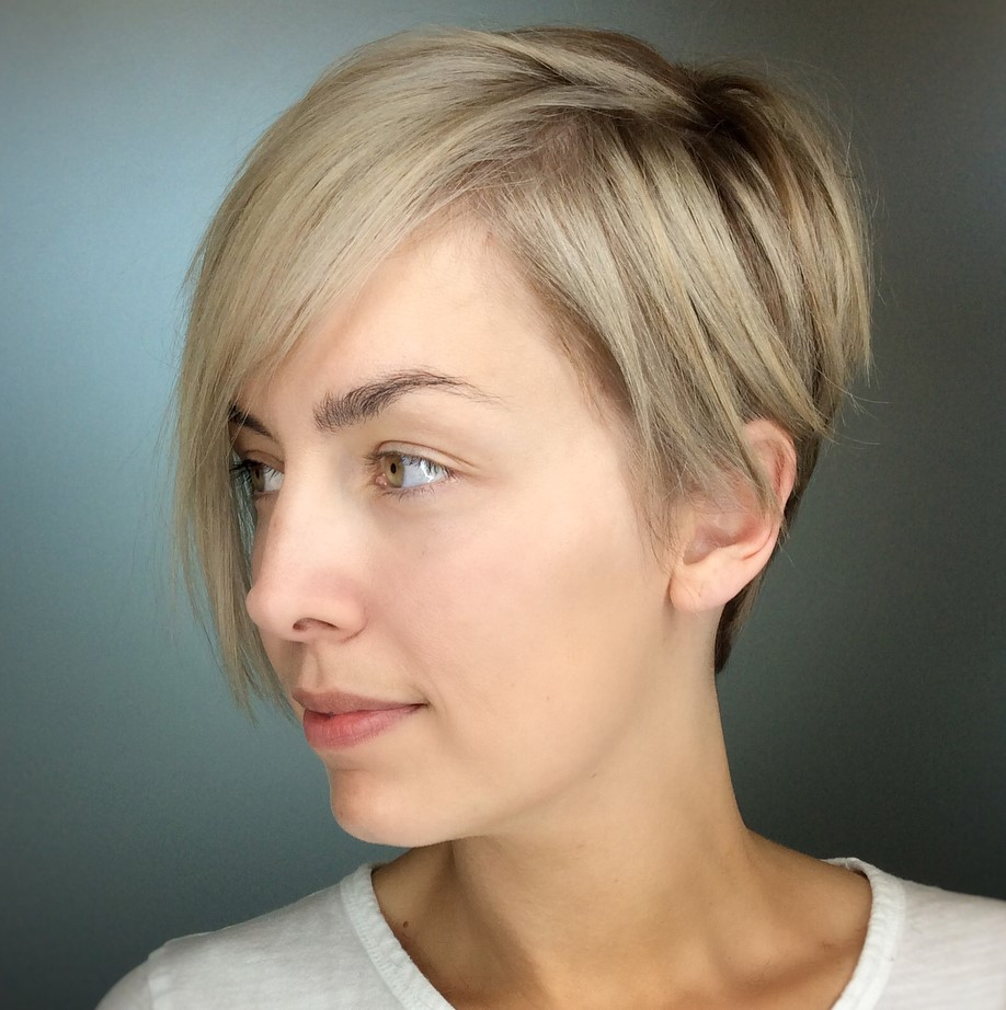 Long Pixie Cut for Oval Faces