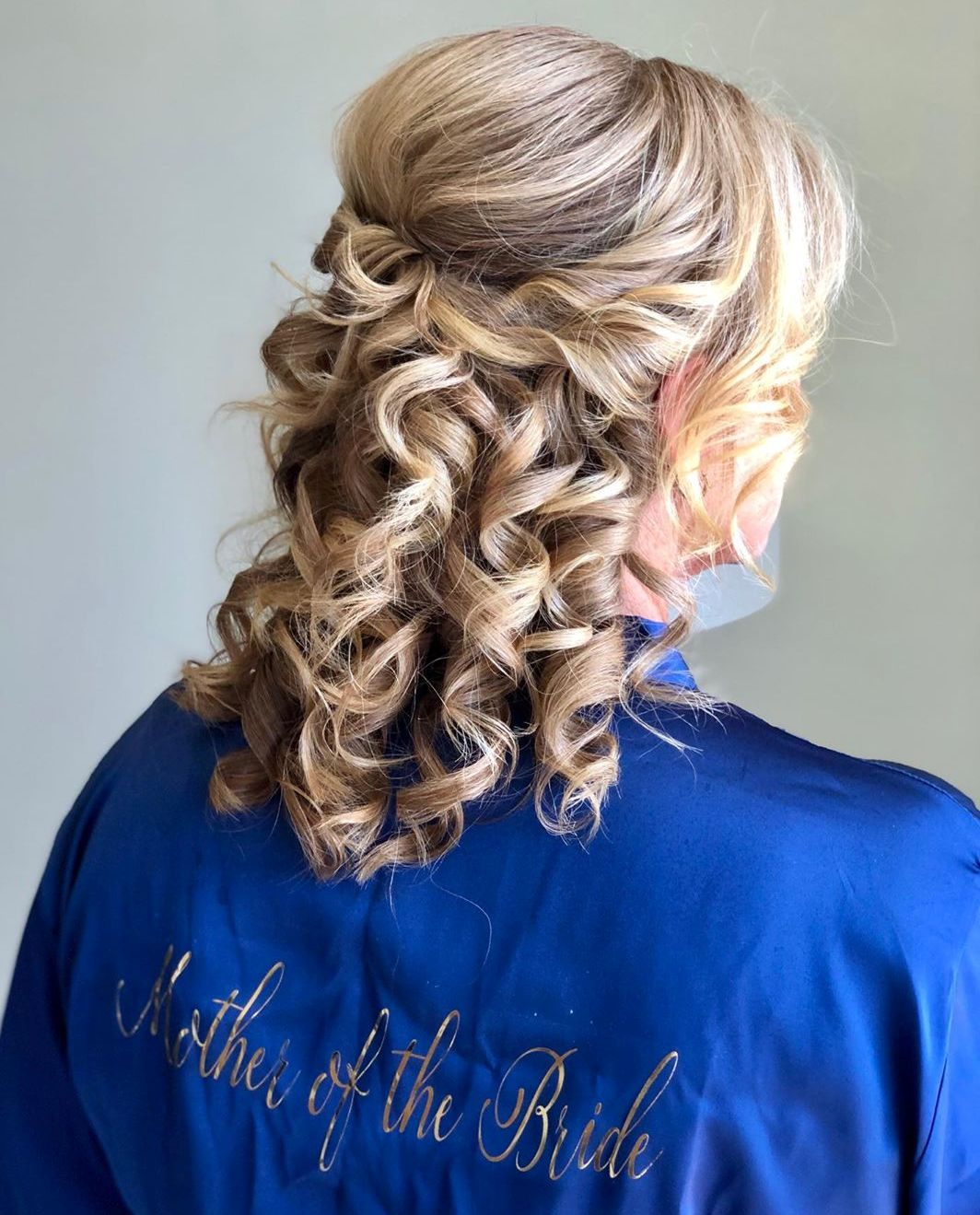 Wedding Half Updo for Curly Hair