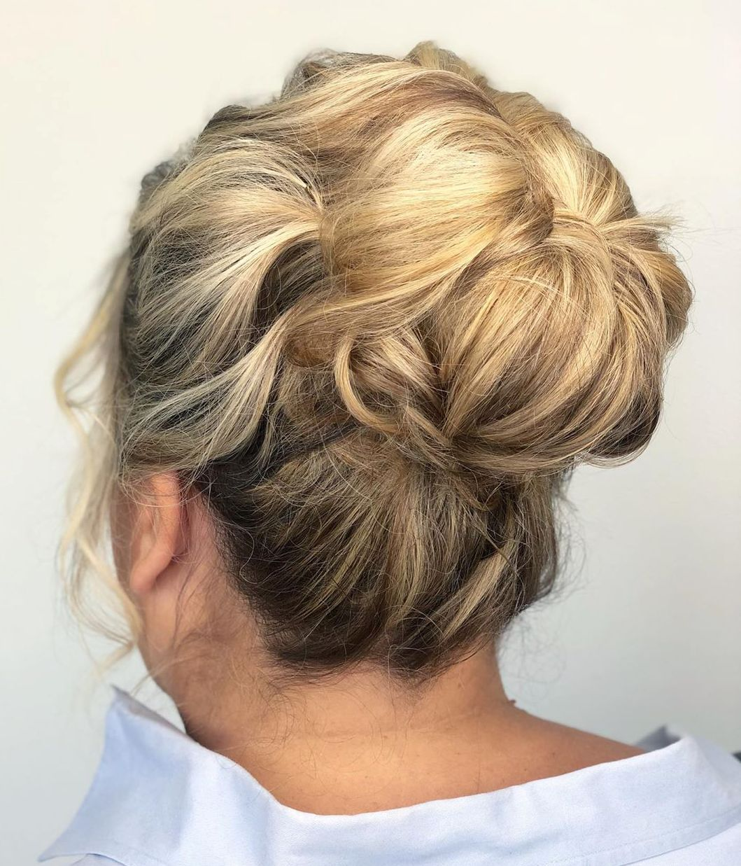 Mother of the Bride Textured Bun Updo
