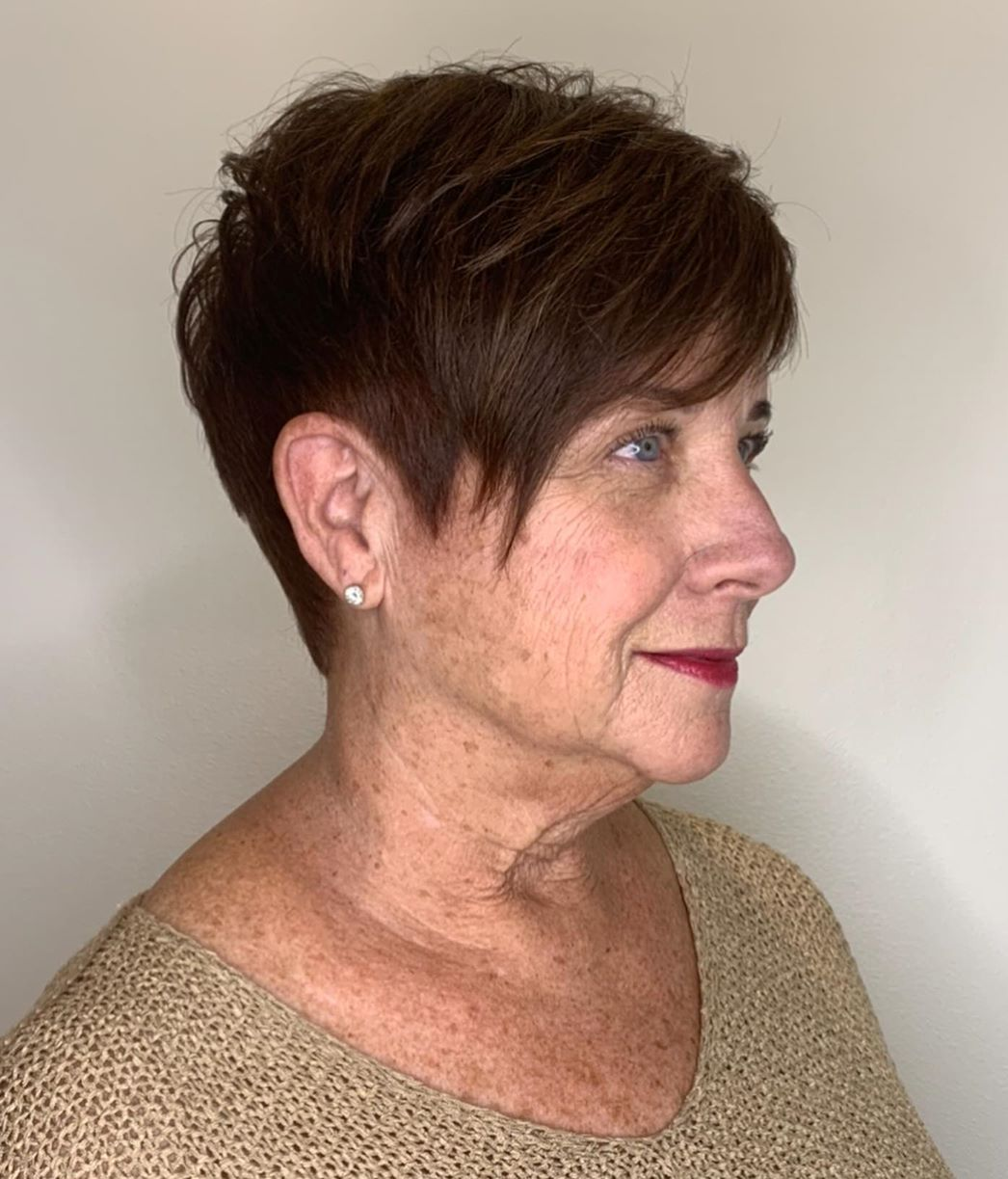 Undercut Hairstyle for Women 60 and Up