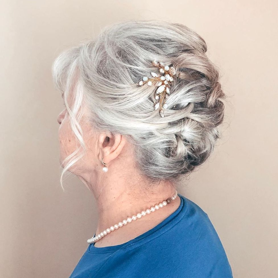 Gray Updo Hairstyle