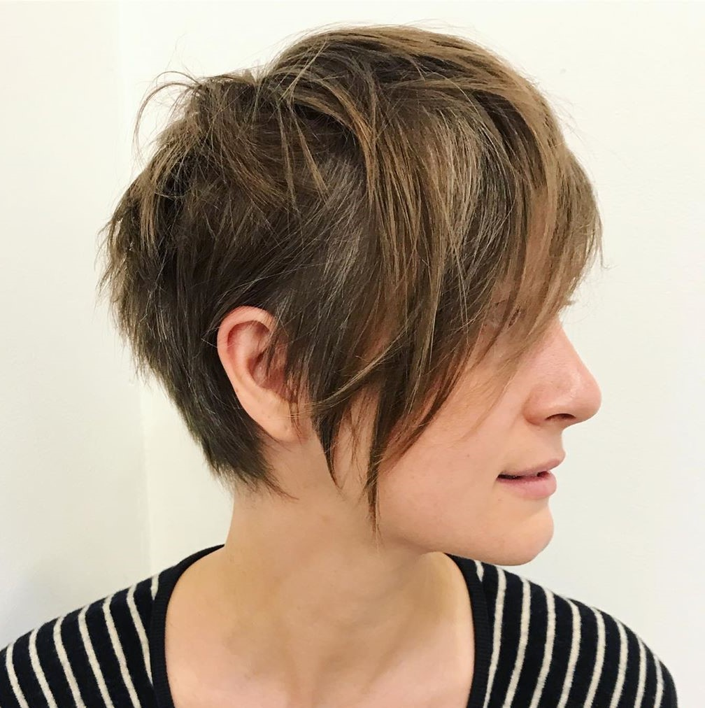 Pixie Haircut with Razored Layers