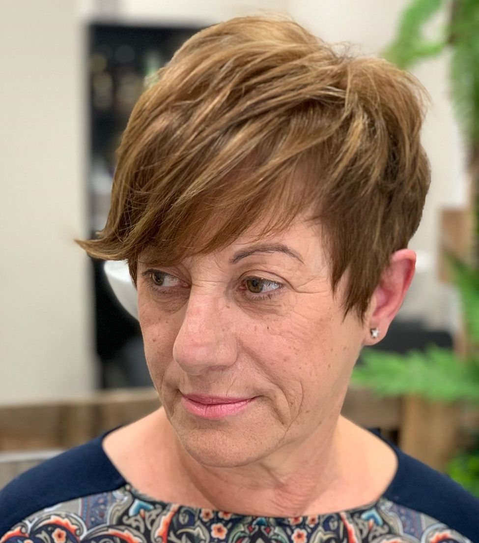 Textured Pixie with Angled Layers