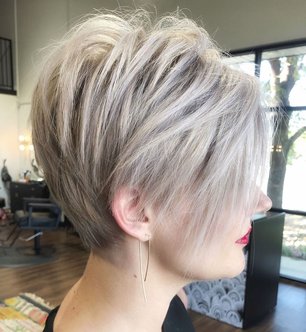 Tapered Long Pixie Haircut for Straight Hair