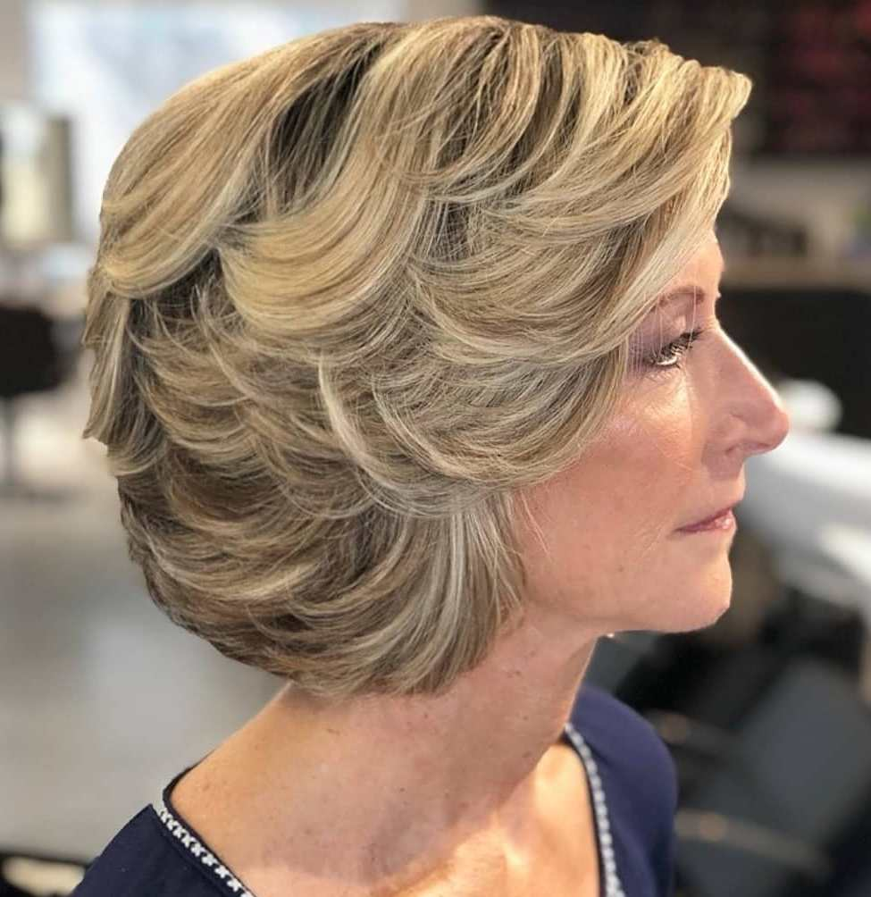 2020's Short Haircut with Swoopy Layers
