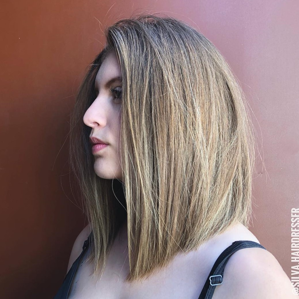Shoulder-Length Angled Hairstyle