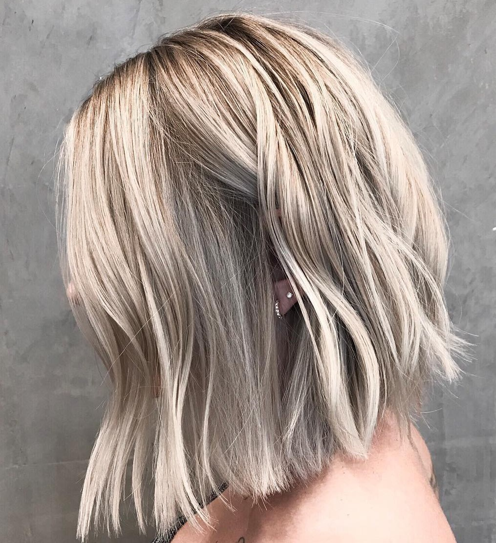 Medium Hairstyle with Textured Ends