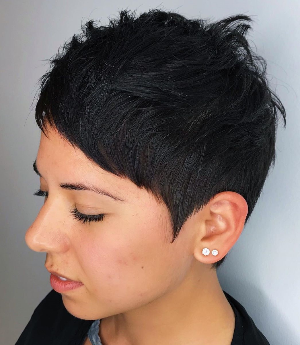 Edgy Textured Short Pixie