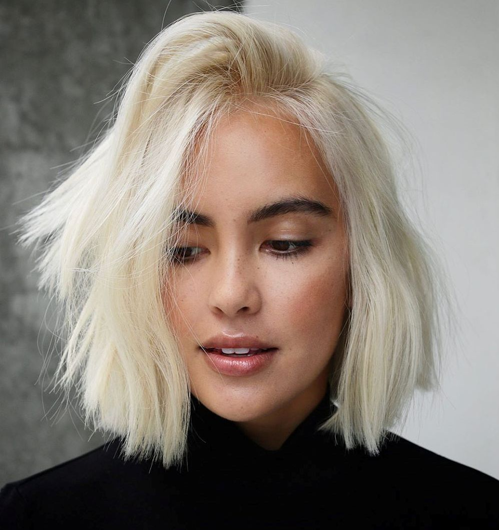 Cute Choppy Blonde Bob
